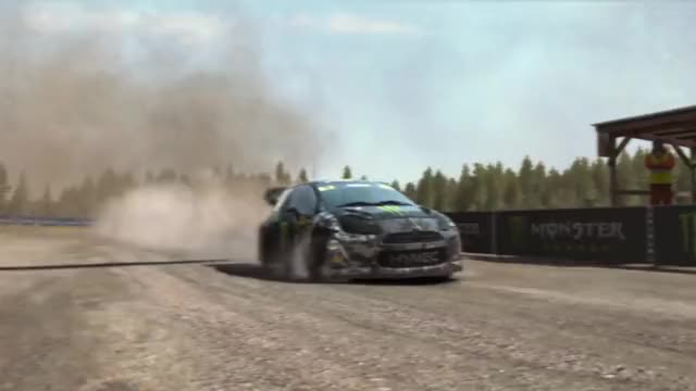 Watch and share [DiRT Rally] Tyre Exploding In Slow-motion (reddit) GIFs by vinylandoctavia on Gfycat