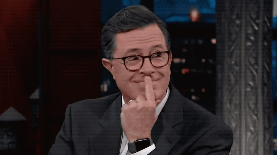 akward, blush, colbert, don't, dunno, embarrassed, funny, god, know, my, no, oh, omg, oops, stephen, wait, way, what, what to say, Stephen Colbert - Awkward GIFs