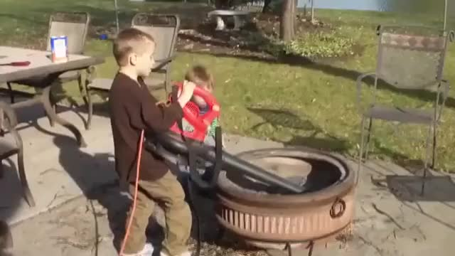 Watch Using a leaf blower to clean out the fire pit GIF on Gfycat. Discover more nononono GIFs on Gfycat
