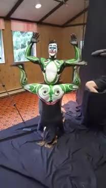 Bodypaint Frog's legs GIFs