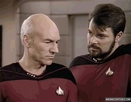 Watch and share Jonathan Frakes GIFs and Patrick Stewart GIFs on Gfycat