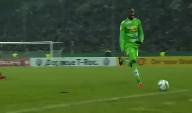 Watch and share Leverkusen's Coach Heiko Herrlich Insane Simulation After Gladbach's Denis Zakaria Push | DFB Cup GIFs on Gfycat