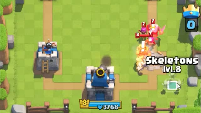 Watch and share Skeleton Distracting Troop GIFs by Clash Royale Kingdom on Gfycat