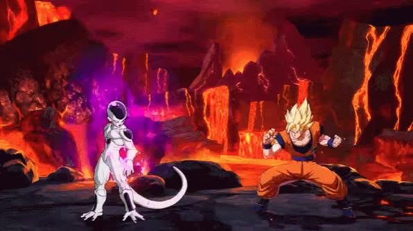 DBFZ, Dragon Ball, Dragon Ball FighterZ - Goku and Freiza GIFs