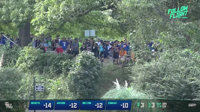 Watch The first Jomez Pro quadruple Follow Flight! USDGC Round 2 F9. GIF on Gfycat. Discover more 2018 disc golf, disc golf, disc golf 2018, dynamic discs, james conrad, jomez 2018, jomez disc golf, paul mcbeth, ricky wysocki, zach melton GIFs on Gfycat