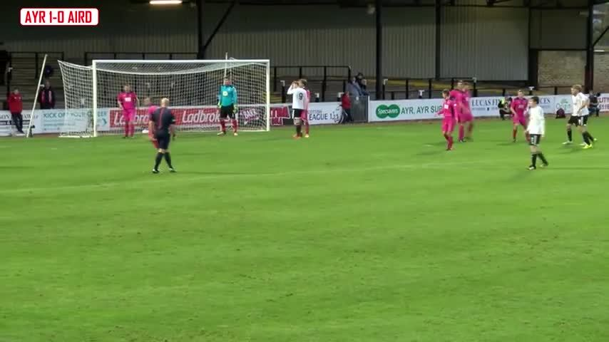 scottishfootball, soccer, Mikey Donald goal for Ayr United v Airdrieonians (reddit) GIFs