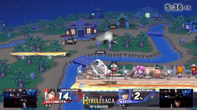 Hyrule Saga - Liquid MVG | Salem (Bayonetta) Vs. Echo Fox MVG | MKLeo (Marth) Top 32 Losers Side