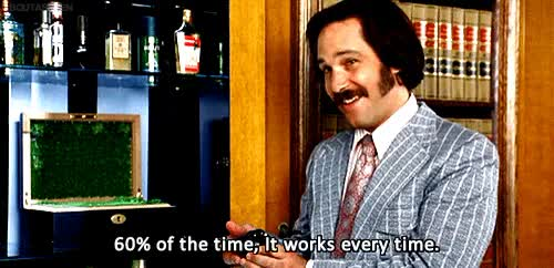 Watch and share Brian Fantana Of The Time It Works Every Time Anchorman GIFs on Gfycat