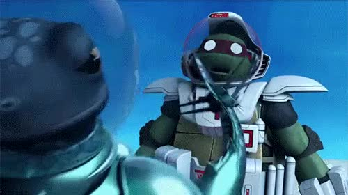 Watch and share TMNT Fugitoid GIFs on Gfycat