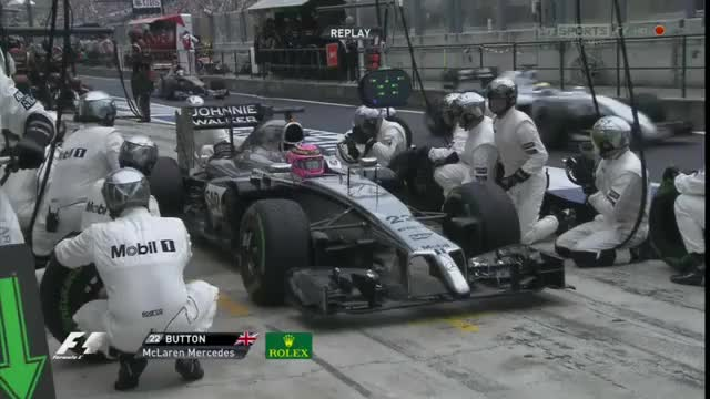 Watch and share 2014 Hungarian GP - Button's Unsafe Release GIFs by aamantubillah on Gfycat