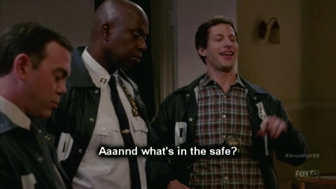 brooklynninenine, What's in the safe? GIFs