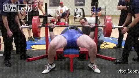 Watch and share Bench Press Fail GIFs on Gfycat