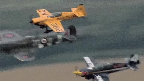Watch Paul Bonhomme and Nigel Lamb flying alongside A spitfire GIF on Gfycat. Discover more related GIFs on Gfycat
