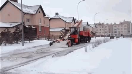 Watch Instead of just a plow, this machine collects snow from streets • r/EngineeringPorn GIF on Gfycat. Discover more related GIFs on Gfycat