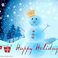 Watch SnowMan King Happy Holidays Animated GIF on Gfycat. Discover more related GIFs on Gfycat