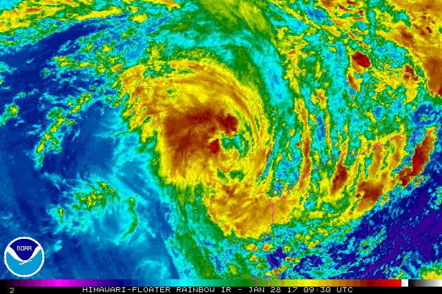 Watch and share Tropical Cyclone 03S - Australia - January 28, 2017 GIFs by The Watchers on Gfycat