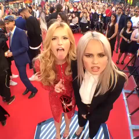 Watch and share Bella Thorne And Debby Ryan [GIF] : Starlets GIFs on Gfycat