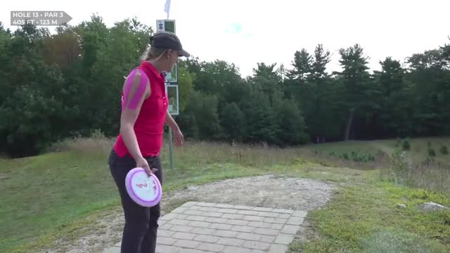 Watch Round Three 2018 MVP Open Sarah Hokom hole 13 GIF by Benn Wineka UWDG (@bennwineka) on Gfycat. Discover more Sports, dgpt, disc golf, disc golf pro tour GIFs on Gfycat