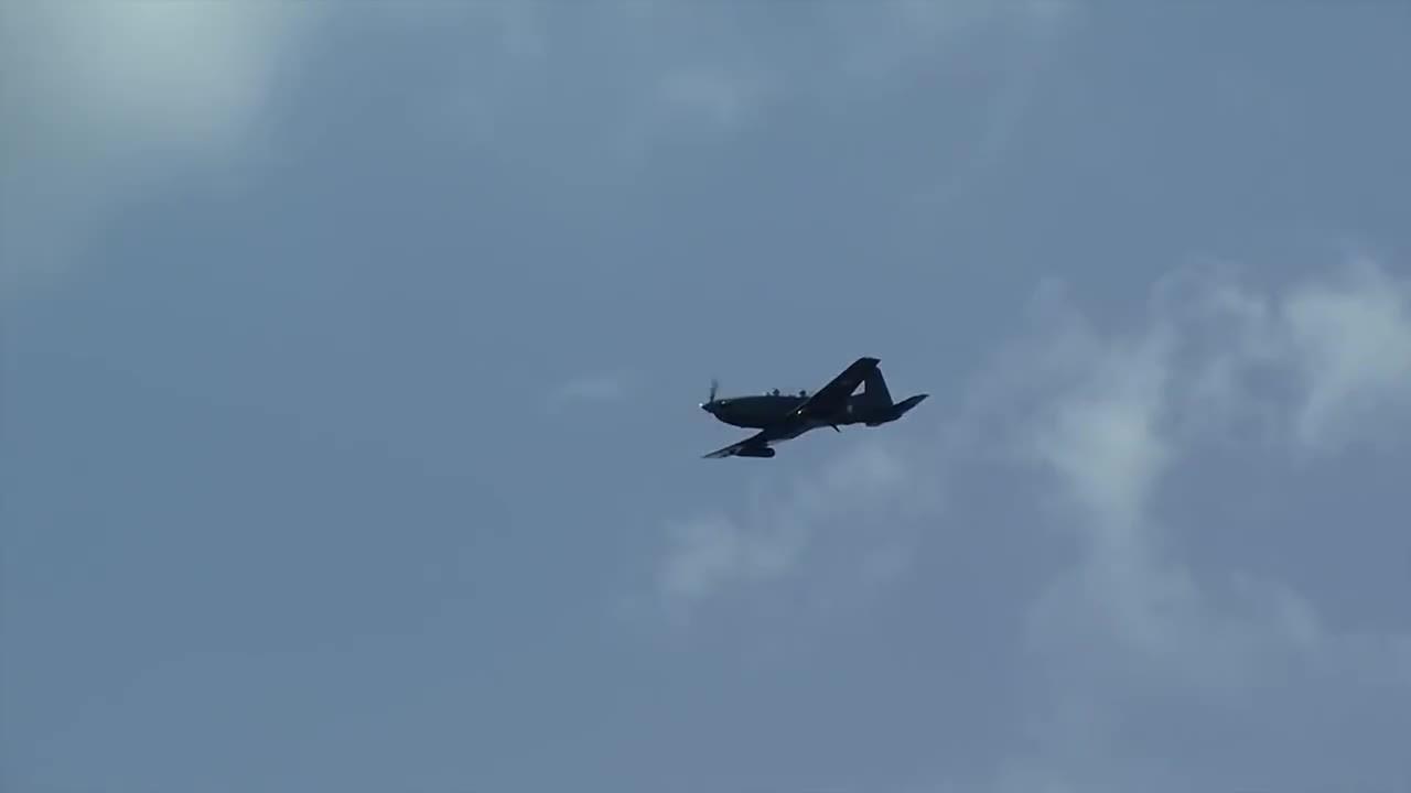 WarplaneGfys, warplanegfys, Pilatus PC-7 Strafing Runs • NATO Close Air Support Exercise (reddit) GIFs