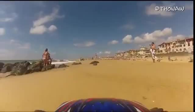 Watch and share BEACH & RC CAR - PRANKS - VIDEO GAG FPV - TRAXXAS  + GOPRO GIFs on Gfycat