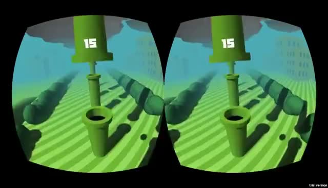 First Person Flappy Bird for the Oculus Rift! GIFs