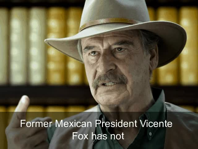 Watch and share Exmexican President Fox Trolls Trump On Twitter Are You Legitimate President Capt GIFs on Gfycat