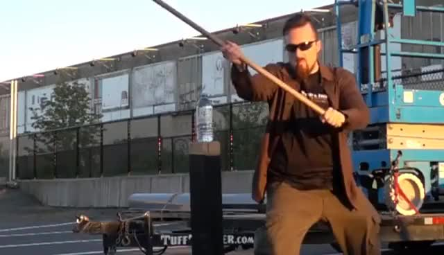 Watch and share Review: Danish War Axe By Arms & Armor - Cuts Like A Polesword GIFs on Gfycat