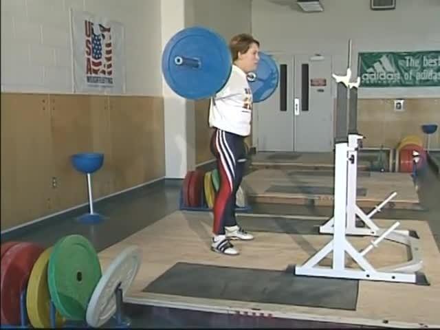 lifting, olympic, sport, BB Back Squat - USA Weightlifting GIFs