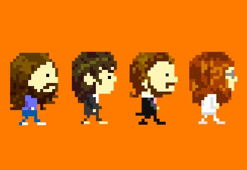 Watch and share 8-bit Walking Beatles Gif GIFs on Gfycat