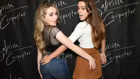 sabrinacarpenter celebs butt, (Audio) Fan explains how photographed with Sabrina groping your butt. LOL GIFs