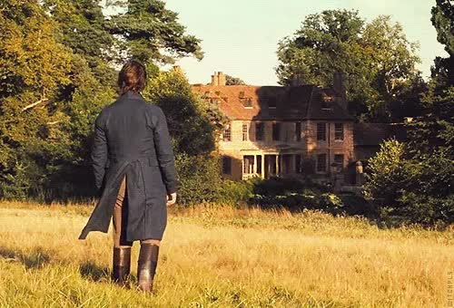 Watch and share Pride & Prejudice, Darcy, Mr. Darcy, Pride And Prejudice, House, Nature GIFs on Gfycat