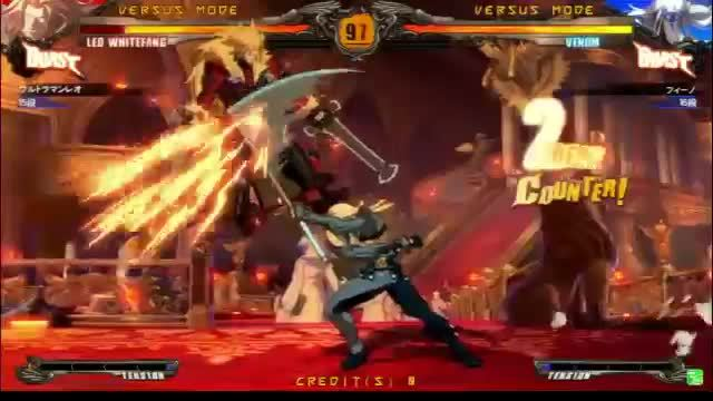 guiltygear, leo, venom, Revelator (and 1.1?) Venom notes 7 GIFs