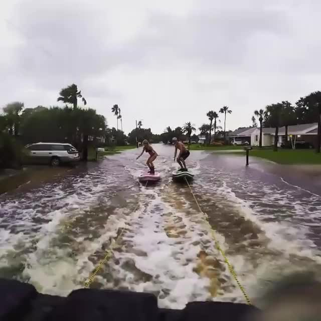 Watch and share Paddleboarding Hurricane Hermine GIFs on Gfycat