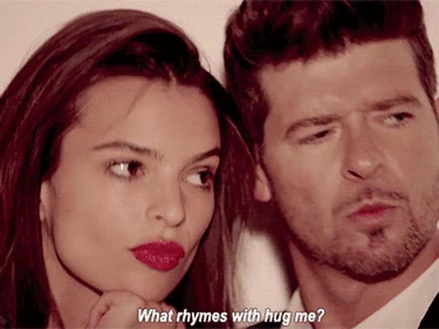 Watch this emily ratajkowski GIF on Gfycat. Discover more emily ratajkowski, robin thicke GIFs on Gfycat