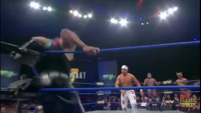 Watch and share LAX Santana Y Ortiz Vs. Laredo Kid Y Garza Jr Vs Drago Y Hijo Del Fantasma GIFs on Gfycat