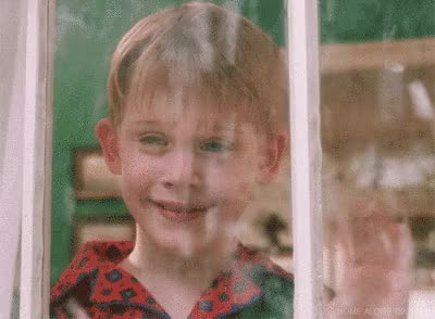 Watch this hey GIF by The GIF Smith (@sannahparker) on Gfycat. Discover more Kevin McCallister, Macaulay Culkin, christmas, happy holidays, hello, hi, home alone, merry christmas, petty, snow, wave GIFs on Gfycat