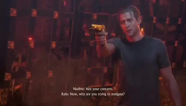 Uncharted 4 A Thief S End Chap 22 Nadine Points Gun At Rafe Avery Tew Dea Gfycat