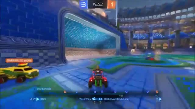 Rocket League Replay - 3 aerial goals!