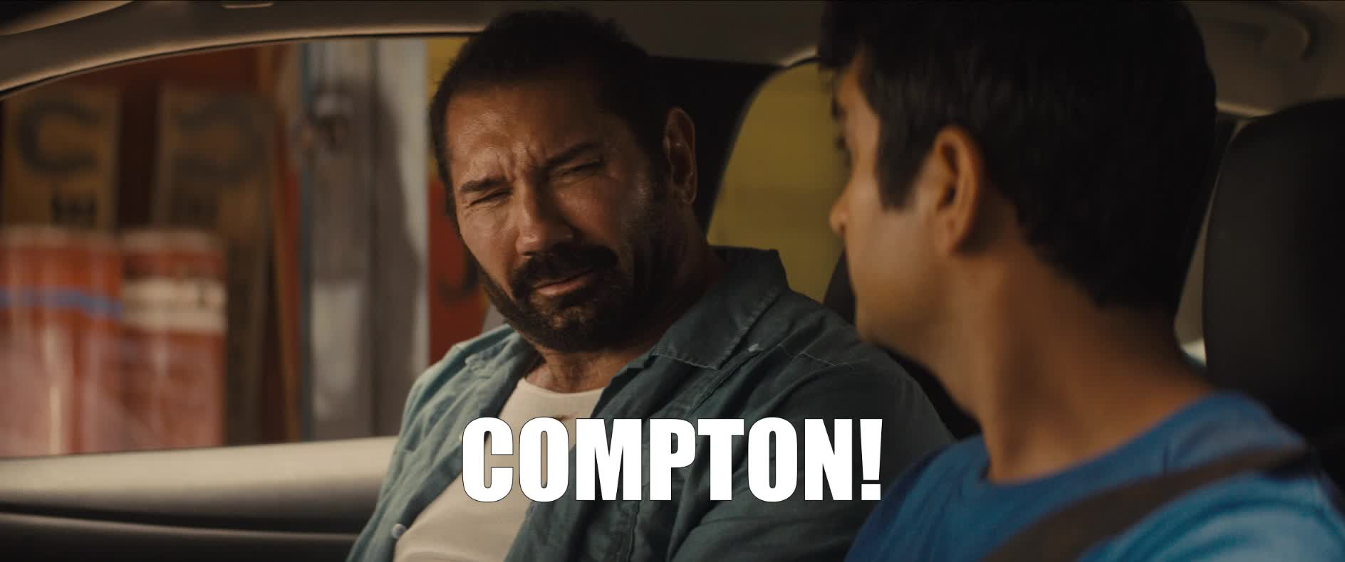 angry, compton, dave bautista, frustrated, mad, stuber, stuber movie, Dave Bautista Compton GIFs