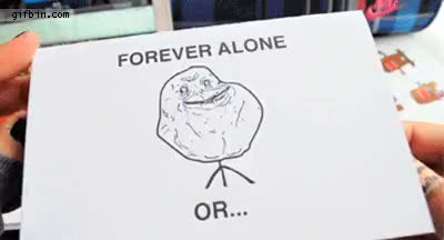 Watch and share Forever Alone Card GIFs on Gfycat