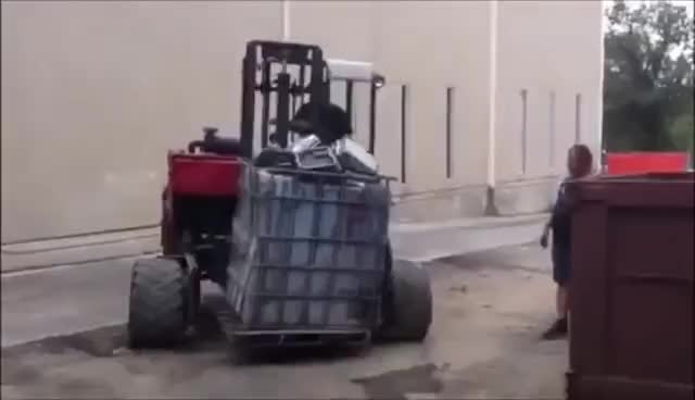 Watch and share INSANELY FUNNY Forklift Fail Complition! GIFs on Gfycat
