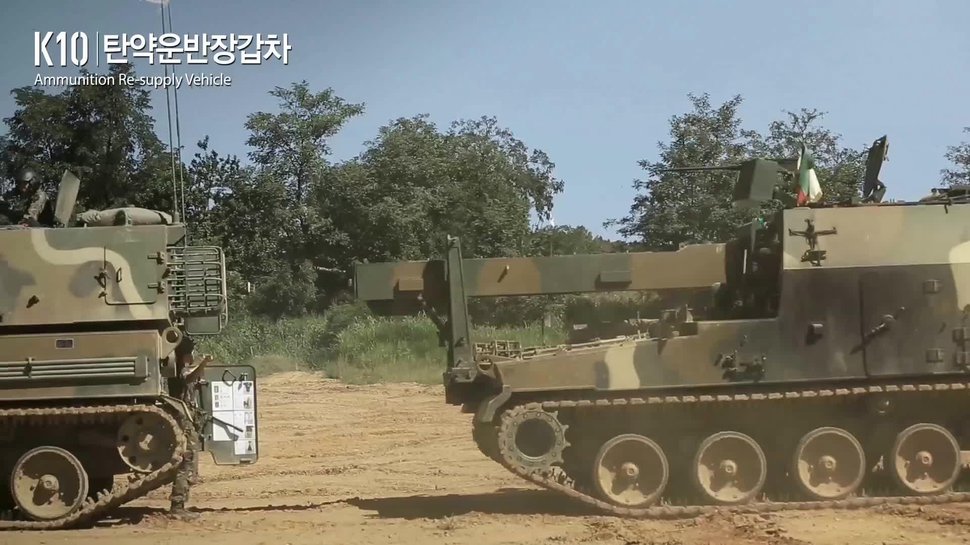 korea, military, militarygfys, south korea, K10 ammunition resupply vehicle GIFs