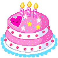 Watch and share Three Candle Birthday Cake animated stickers on Gfycat