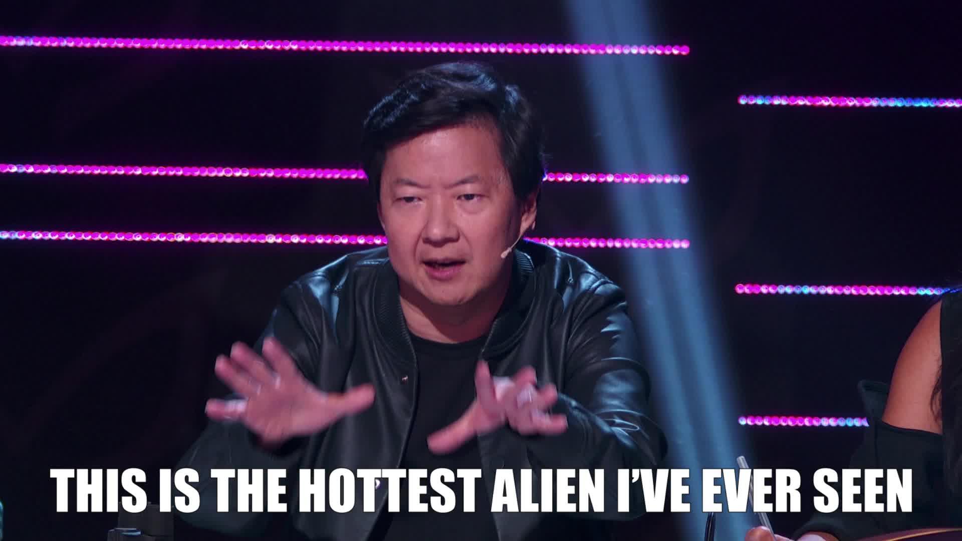 alien, feels, hot, ken jeong, masked singer, nailed it, the masked singer, the masked singer on fox, Hottest Alien Ever Ken Jeong GIFs