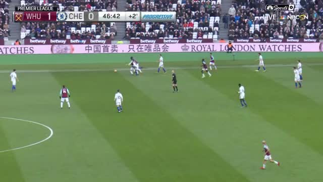 Watch and share Masuaku Roulette Pass (West Ham Vs Chelsea 12-9-17) GIFs on Gfycat