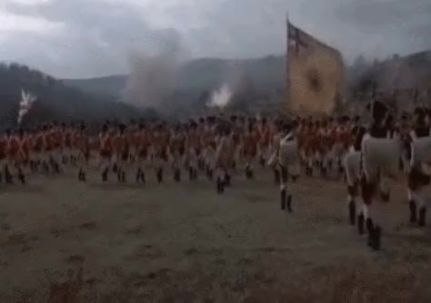 Watch and share American Revolutionary War British Army Line Advances GIFs by nurdbot on Gfycat