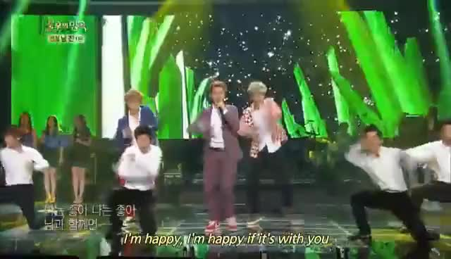 Watch and share EXO - With You Immortal Songs 2 GIFs on Gfycat
