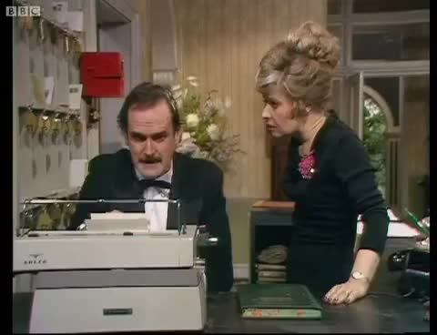Watch and share Fawlty Towers GIFs and John Cleese GIFs on Gfycat