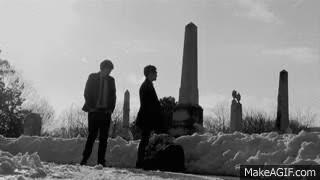 walking in a snowy graveyard~