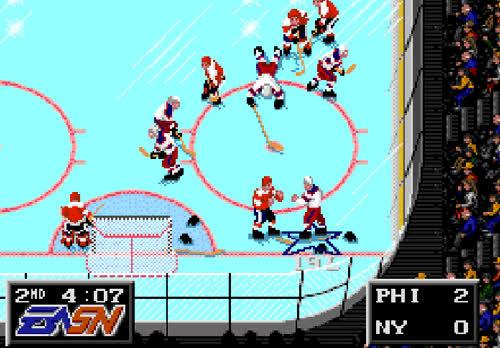 hockey, genesis, hockey fight, nhl, nhl 94 GIFs